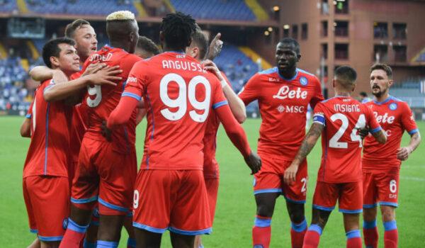 Napoli a punteggio pieno, al Ferraris 4-0 alla Samp